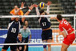 20170524 NED: 2018 FIVB Volleyball World Championship qualification, Koog aan de Zaan<br />Andreas Andreadis (10) of Greece, Athanasios Protopsaltis (17) of Greece <br />©2017-FotoHoogendoorn.nl / Pim Waslander