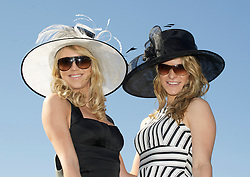 LIVERPOOL, ENGLAND, Thursday, April 7, 2011: Madaline and Mandy from Norway during Ladies' Day on Day Two of the Aintree Grand National Festival at Aintree Racecourse. (Photo by David Rawcliffe/Propaganda)