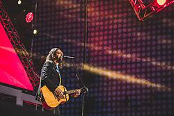 May 1, 2019 - Roma, Roma, Italy - Omar Pedrini is an Italian singer-songwriter, guitarist and teacher, former leader of the Timoria. .The ''May Day'' Concert is an event organized every year in Rome by the labor unions CGL, CISL and UIL to celebrate workers' rights with music. (Credit Image: © Luigi Rizzo/Pacific Press via ZUMA Wire)