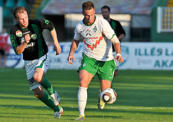 31.07.2010, Rohonci úti Stadion, Szombathelyi, HUN, Szombathelyi Haladás vs Werder Bremen, Friendly Match  1. FBL 2010  im Bild Marton Oross ( Haladás #09 ) gegen Marko Arnautovic (Werder #07 )     EXPA Pictures © 2010, PhotoCredit: EXPA/ nph/  Kokenge+++++ ATTENTION - OUT OF GER +++++ / SPORTIDA PHOTO AGENCY