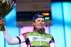 Lotta Lepistö (FIN) leads the points classification at Healthy Ageing Tour 2019 - Stage 3, a 124 km road race starting and finishing in Musselkanaal, Netherlands on April 12, 2019. Photo by Sean Robinson/velofocus.com