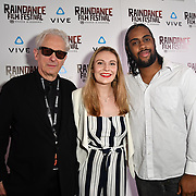 Elliot Grove, Laura Gregory and Orlando Bryant Nominated attends the Raindance Film Festival - VR Awards, London, UK. 6 October 2018.