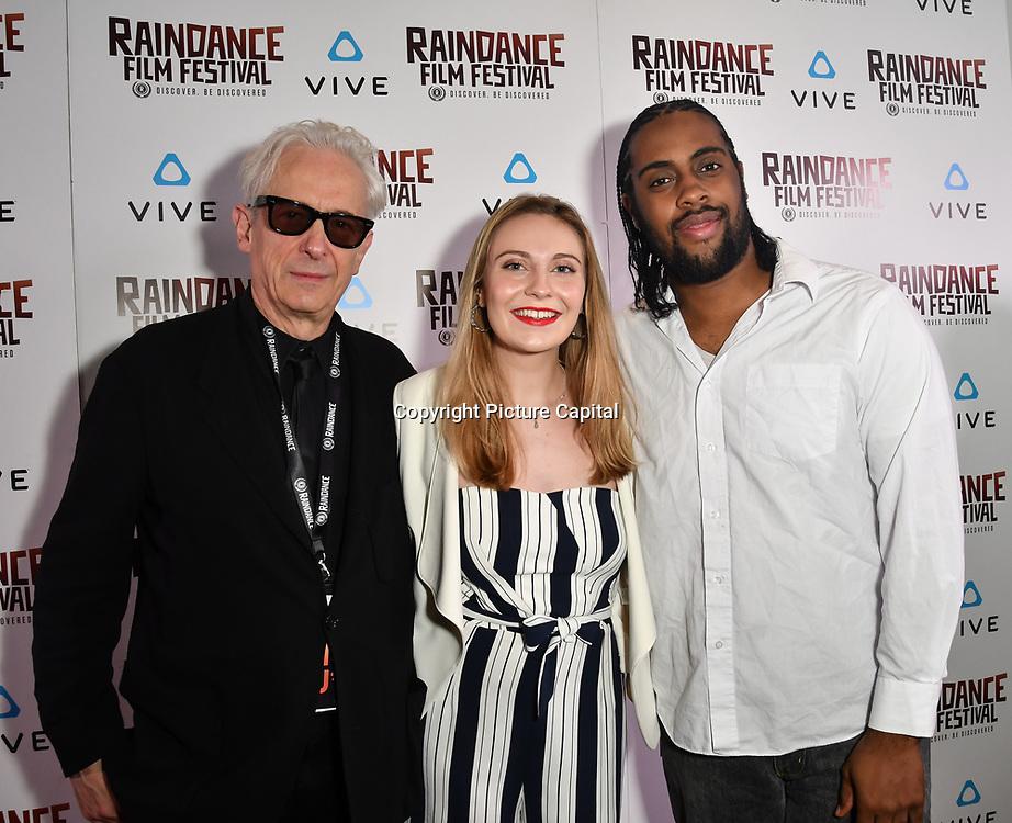 Elliot Grove, Laura Gregory and Orlando Bryant Nominated attends the Raindance Film Festival - VR Awards, London, UK. 6 October 2018.
