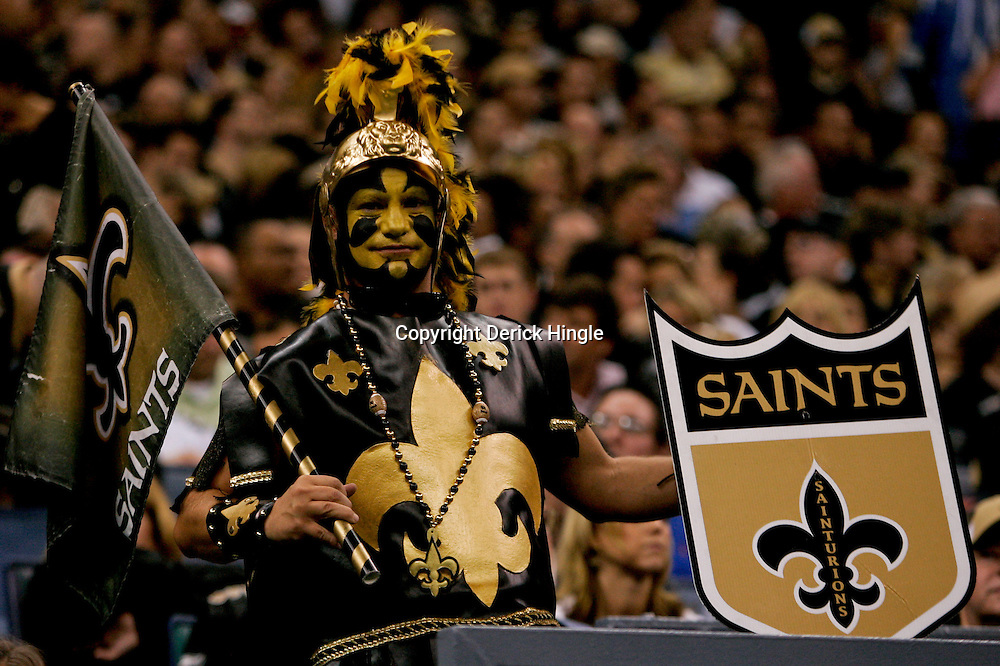 2009 September 13: New Orleans Saints fans in the stands during a 45-27 win by the New Orleans Saints over the Detroit Lions at the Louisiana Superdome in New Orleans, Louisiana.