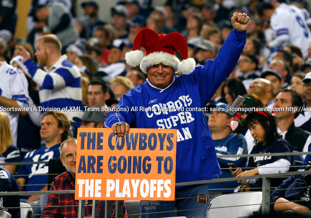 21 DEC 2014: A Dallas Cowboys fan during an NFL regular season game between the Indianapolis Colts and Dallas Cowboys at AT&T Stadium in Arlington, TX. Cowboys won 42-7.