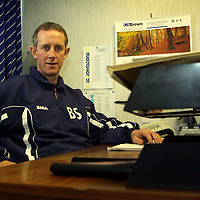 New St Johnstone manager Billy Stark at his office in McDiarmid Park<br />see story<br /><br />Pic by Graeme Hart<br />Copyright Perthshire Picture Agency<br />Tel: 01738 623350 / 07990 594431