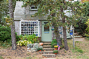 Chatharbor Gifts store traditional oak shingle architecture by Cockle Cove at Chatham, Cape Cod, New England, USA