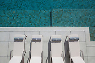 Swimming pool details at Lime Villa 4, a luxury private, ocean view villa, Koh Samui, Surat Thani, Thailand