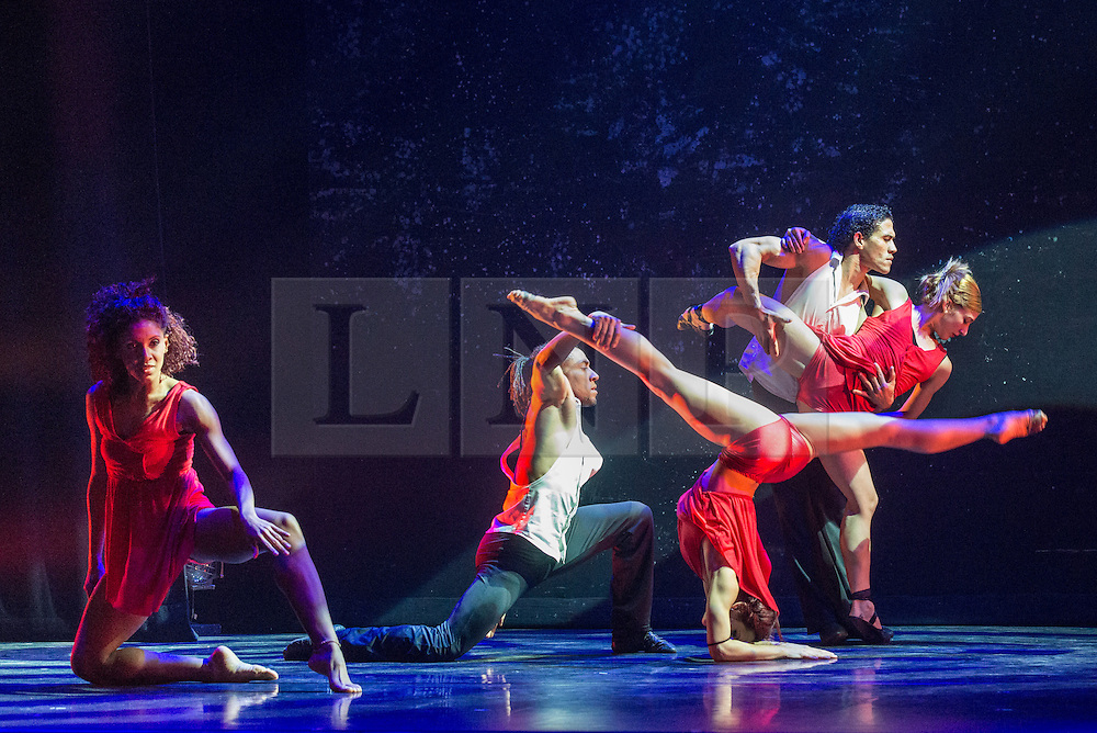 © Licensed to London News Pictures. 06/03/2013. London, UK. After its sell-out run last year Ballet Revolucion returns to the West End's Peacock Theatre, London. Ballet Revolucion is an explosive fusion of ballet, contemporary dance and hip hop from a company of supremely talented Cuban dancers and live musicians. Ballet Revolucion is choreographed by Aaron Cash and Roclan Gonzalez Chavez..Photo credit: Tony Nandi/LNP