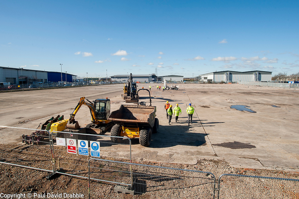 A ground-breaking ceremony to mark St. Modwen, the UK's leading regeneration specialist's first phase of a major new 250,000 sq ft commercial development at Parkside Business Park in Doncaster <br /> <br /> 07 March 2016<br />  Copyright Paul David Drabble<br />  www.pauldaviddrabble.co.uk