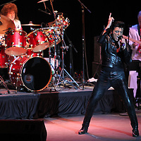 """Elvis Tribute Artist Matt King performs """"If I Can Dream"""", during the Ultimate Elvis Tribute Artist Competition Finals Saturday night at the BancorpSouth Arena in Tupelo."""