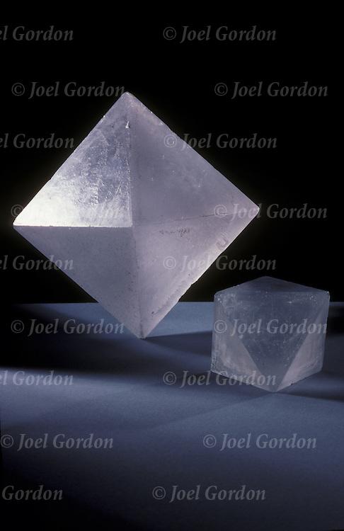 Octahedral crystals of potassium aluminum sulfate