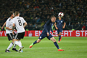 Jamie Vardy of England attacks the goal during the International Friendly match between Germany and England at Signal Iduna Park, Dortmund, Germany on 22 March 2017. Photo by Phil Duncan.