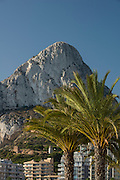 Peñon de Ifach from Levante beach, Calpe, Alicante province, Spain
