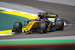 November 10, 2017 - Sao Paulo, Sao Paulo, Brazil - Nov, 2017 - Sao Paulo, Sao Paulo, Brazil - NICO HULKENBERG/Renault. Free practice this Friday (10), for the Brazilian Grand Prix of Formula One that takes place next Sunday at the Autodromo de Interlagos in São Paulo. (Credit Image: © Marcelo Chello via ZUMA Wire)