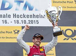 17.10.2015, Hockenheimring, Hockenheim, GER, DTM, Hockenheim, im Bild Timo Scheider (Audi RS5 DTM) bejubelt seinen Sieg // during the DTM Championship Race at the Hockenheimring in Hockenheim, Germany on 2015/10/17. EXPA Pictures © 2015, PhotoCredit: EXPA/ Eibner-Pressefoto/ Neis<br /> <br /> *****ATTENTION - OUT of GER*****