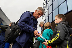 Bristol Rovers Manager, John Ward signs autographs for fans outside the Oxford United stadium, Kassam Stadium - Photo mandatory by-line: Dougie Allward/JMP - Tel: Mobile: 07966 386802 02/11/2013 - SPORT - FOOTBALL - Kassam Stadium - Oxford - Oxford United v Bristol Rovers - Sky Bet League Two