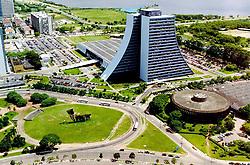 Vista aérea do Centro Administrativo da cidade de Porto Alegre. <br /> FOTO: Jefferson Bernardes/Preview.com