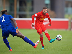BURTON-UPON-TRENT, ENGLAND - Saturday, December 3, 2016: Liverpool's Juanma Garcia in action against Leicester City during the Premier League International Cup match at St. George's Park. (Pic by David Rawcliffe/Propaganda)