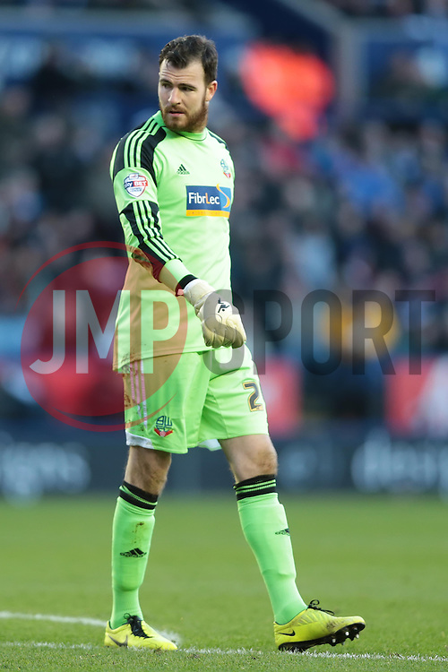 Bolton Wanderers' Andy Lonergan - Photo mandatory by-line: Nigel Pitts-Drake/JMP - Tel: Mobile: 07966 386802 29/12/2013 - SPORT - FOOTBALL - King Power Stadium - Leicester - Leicester City v Bolton Wanderers - Sky Bet Championship