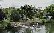 Maidenhead, ENGLAND. General view of Bridge Gardens, from Maidenhead Bridge.   Maidenhead Town Regatta, River Thames.  16:59:50  Saturday  08/08/2015   [Mandatory Credit. Peter SPURRIER/ Intersport Images.