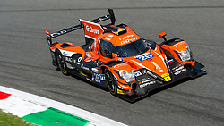 The russian team G-DRIVE RACING (Roman RUSINOV, Andrea PIZZITOLA, J.E. VERGNE) won the ELMS 4 hours of Monza 2018 after a great battle against TDS RACING and IDEC SPORT, placed second and third respectively, here at PArabolica turn.
