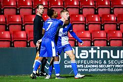 Kieran Phillips of Bristol Rovers celebrates scoring a goal to make it 2-1 - Mandatory by-line: Robbie Stephenson/JMP - 29/10/2019 - FOOTBALL - County Ground - Swindon, England - Swindon Town v Bristol Rovers - FA Youth Cup Round One