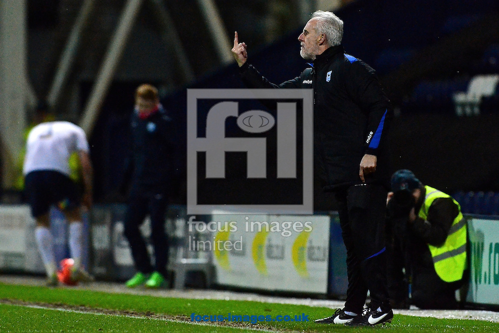 Picture by Ian Wadkins/Focus Images Ltd +44 7877 568959<br /> 14/01/2014<br /> Ipswich Town manager Mick McCarthy gestures during the The FA Cup match at Deepdale, Preston.