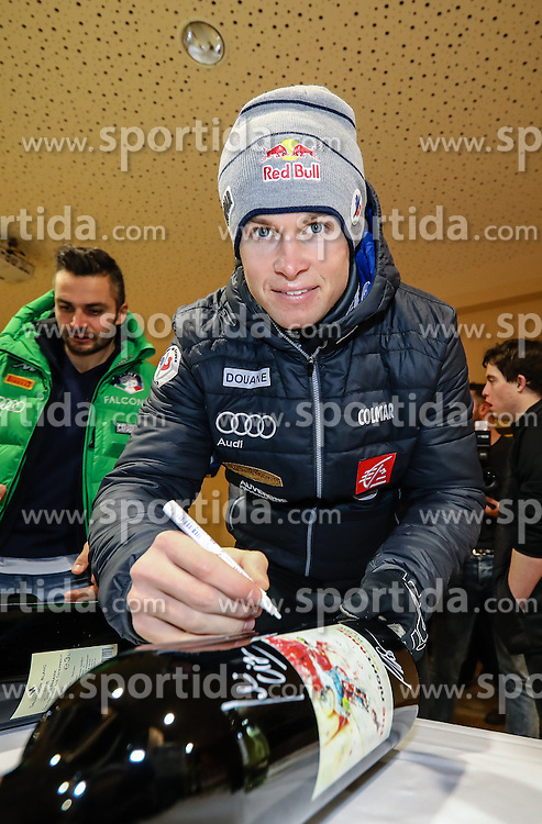23.01.2017, Planai, Schladming, AUT, FIS Weltcup Ski Alpin, Slalom, Herren, Startnummernauslosung, im Bild Alexis Pinturault (FRA) // Alexis Pinturault of France during the bibdraw prior to the Schladming FIS Ski Alpine World Cup 2017 at the Planai in Schladming, Austria on 2017/01/23. EXPA Pictures © 2017, PhotoCredit: EXPA/ Martin Huber