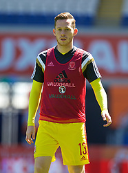 CARDIFF, WALES - Friday, June 5, 2015: Wales' Wes Burns before a practice match at the Cardiff City Stadium ahead of the UEFA Euro 2016 Qualifying Round Group B match against Belgium. (Pic by David Rawcliffe/Propaganda)