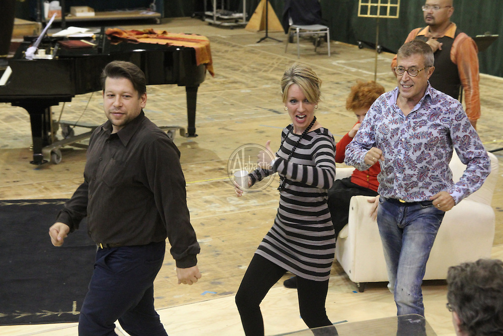 """Seattle Opera staging rehearsal for """"The Daughter of the Regiment"""""""
