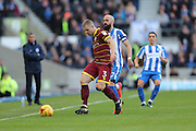 Queens Park Rangers defender Jake Bidwell (3) during the EFL Sky Bet Championship match between Brighton and Hove Albion and Queens Park Rangers at the American Express Community Stadium, Brighton and Hove, England on 27 December 2016.