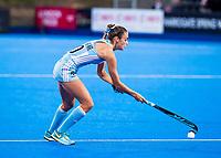 Londen - Magdalena Fernandez Ladra (Arg) tijdens de cross over wedstrijd Argentinie-Nieuw Zeeland (2-0)  bij het WK Hockey 2018 in Londen .  COPYRIGHT KOEN SUYK