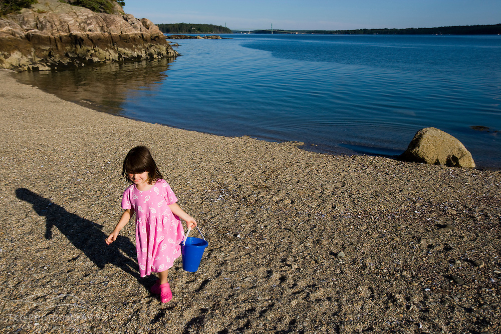 Acadia at the beach at the Oakland House on Eggemoggin Reach in Brooksville, Maine. (MR)