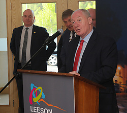 Minister for Rural and Community Development Michael Ring TD speaking at the opening of the Leeson Enterprise centre Westport on friday last.<br /> Pic Conor McKeown
