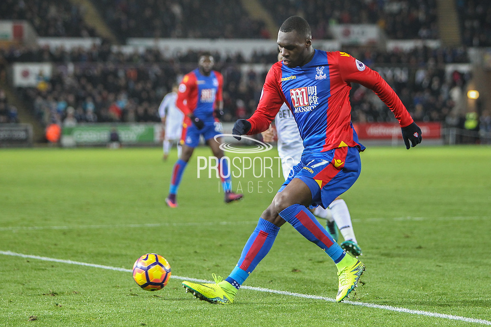 Christian Beneteke of Crystal Palace during the Premier League match between Swansea City and Crystal Palace at the Liberty Stadium, Swansea, Wales on 26 November 2016. Photo by Andrew Lewis.