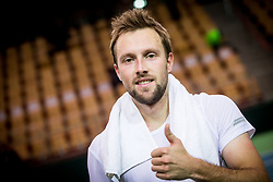 Tom Kocevar Desman of Slovenia during the Day 2 of Davis Cup 2018 Europe/Africa zone Group II between Slovenia and Poland, on February 4, 2018 in Arena Lukna, Maribor, Slovenia. Photo by Vid Ponikvar / Sportida