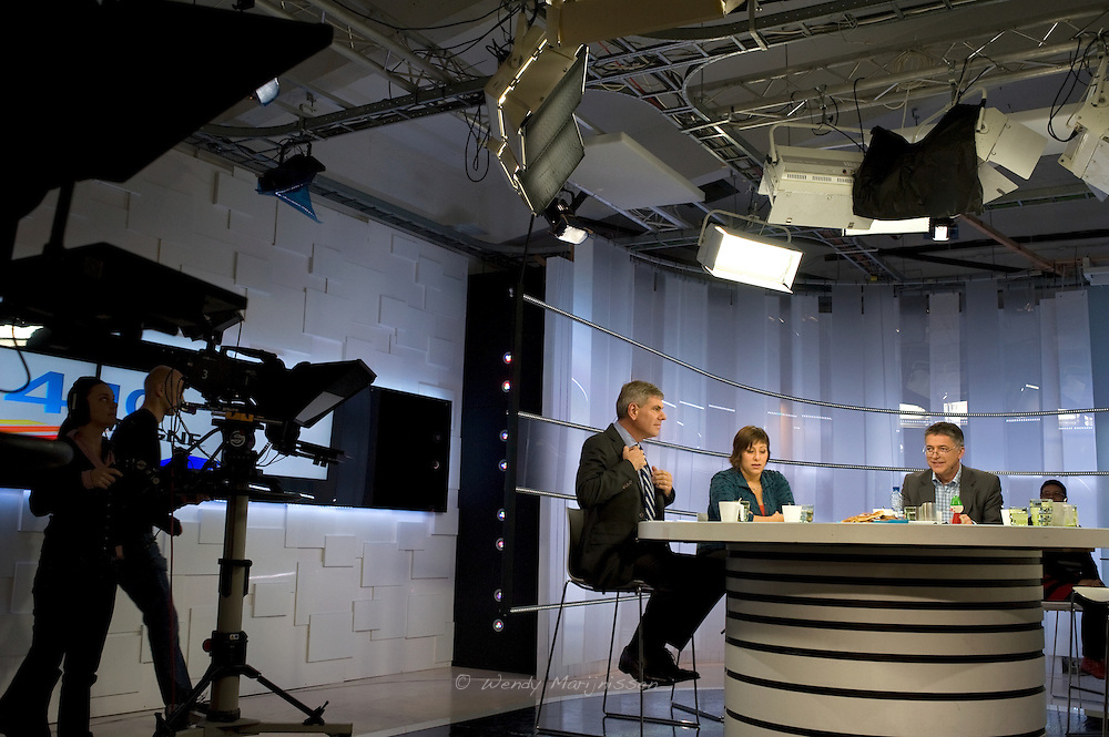 Meyrem Almaci live during a local tv debate a week before the elections in Antwerpen. Belgium