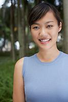 Mid adult woman in park portrait