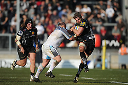 Geoff Parling of Exeter Chiefs in action.  - Mandatory byline: Alex Davidson/JMP - 12/03/2016 - RUGBY - Sandy Park -Exeter Chiefs,England - Exeter Chiefs v Newcastle Falcons - Aviva Premiership