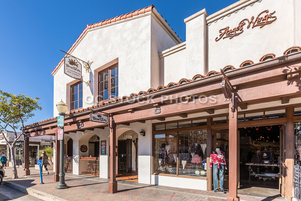 Beach Fire Restaurant and Angel Wings Clothing Store on Del Mar Street in San Clemente