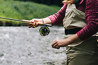 Fly fishing Oregon.