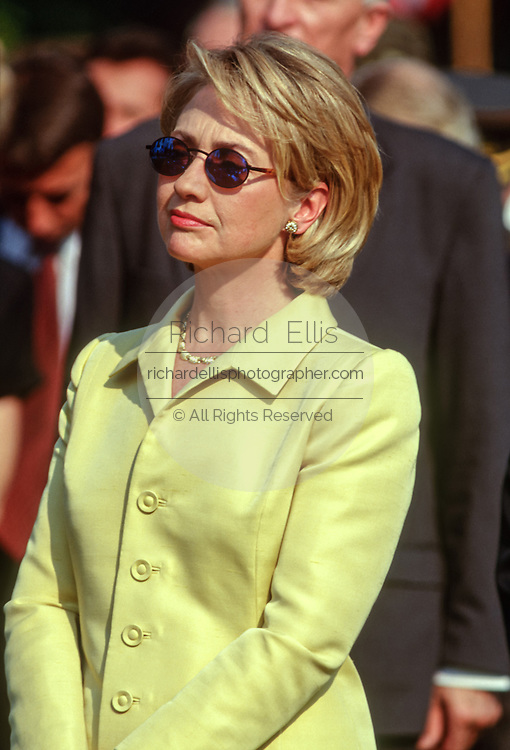US First lady Hillary Clinton at the White House September 16, 1998 in Washington, DC.