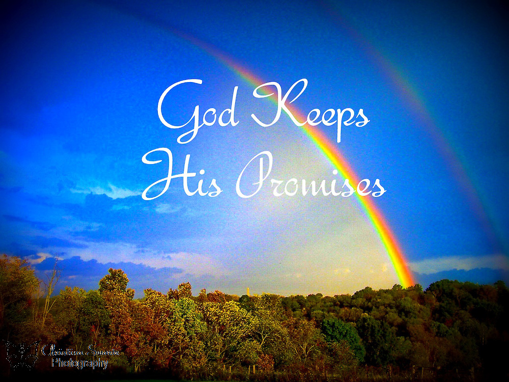 Double Rainbow God Keeps His Promises image for sale