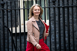 © Licensed to London News Pictures. 29/01/2019. London, UK. Chief Secretary to the Treasury Liz Truss leaves 10 Downing Street after attending a Cabinet meeting this morning. Photo credit : Tom Nicholson/LNP