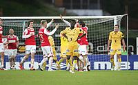 12.09.2012.<br /> Bryne v Bodø Glimt.<br /> Bryne Stadion, Bryne, Norge.<br /> <br /> Foto. Simon Rogers, Digital Sport.<br /> <br /> Bryne. Eirik Jakobsen.<br /> Bodø Glimt. Papa Ndaye, Christian Berg.