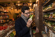 Italian author David Bez published Salad Love recently. He is shopping at Organico, a shop in Chatsworth road, Homerton, London.
