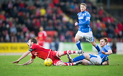 Aberdeen&rsquo;s Graeme Shinnie and St Johnstone&rsquo;s Liam Craig. <br /> St Johnstone 3 v 4Aberdeen, SPFL Ladbrokes Premiership played 6/2/2016 at McDiarmid Park, Perth.