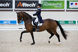 Jeanna Högberg, (SWE), Darcia - Grand Prix Team Competition Dressage - Alltech FEI World Equestrian Games™ 2014 - Normandy, France.<br /> © Hippo Foto Team - Leanjo de Koster<br /> 25/06/14