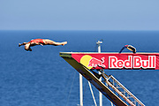 Lysanne Richard of Canada during the Red Bull Cliff Diving World Series 2018 on September 23, 2018 in Polignano a Mare, Italy - Photo Marco Verri / ProSportsImages / DPPI